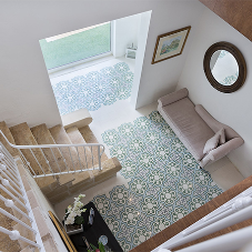 Patterned Tiles from Halmann in private home