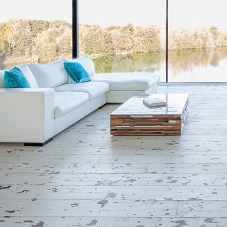 Painted Oak flooring for striking scenic property