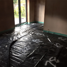 Liquid floor screed for ground floor extension in Rugby