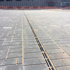 Gatic Slotdrain channels for new business park