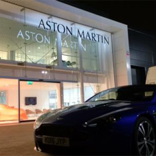 record doors create grand entrance to Aston Martin