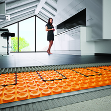 Latest technology for efficient underfloor heating