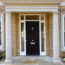Be safe & secure behind a modern entrance door