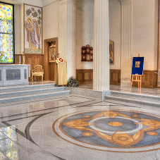 Natural stone flooring in Russian Chapel
