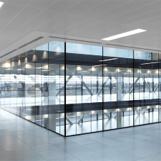 Unprecedented glazing installation for office space