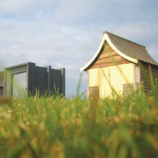 Prize winning beach hut from Design & Display
