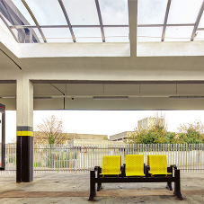Polycarbonate rooflights for West Kirby station