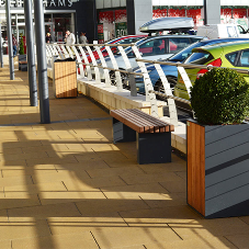 Street furniture for  Elliott's Field Retail Park