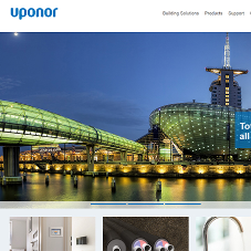 Uponor unveils its redesigned start page