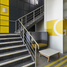 Gradus stair edgings reducing risk of trips in Brough