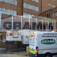 Recycled plastic acoustic barrier for Hastings Direct
