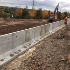 Key precast concrete products at Cannock build project