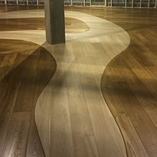Imaginative floor installation for Viking Museum