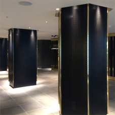 Bespoke hexagonal column casings for Mondrian London