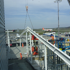 Fire protective coating for new airport building