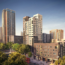 Sustainable glazing at Elephant Park regeneration project