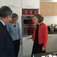 Miinus Kitchen features in launch of flood resilient home