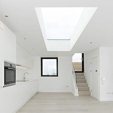 Rooflight a space-saver for London Apartment