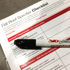 Flat roof specifier checklist Part 1: Employers requirements