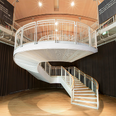 Self standing staircase for Unicredit Pavillion