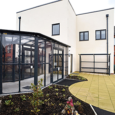 Linked walkway for Wrexham Care Home