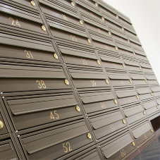 Bespoke freestanding mailboxes for luxury residence