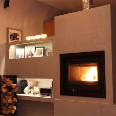 Politura Microcement for fire surround & shelving