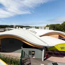 Standing Seam Roof system for Paultons Park
