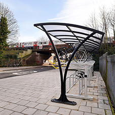Cycle shelter for Hounslow Central