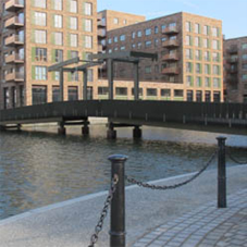 Street furniture for Royal Albert Wharf