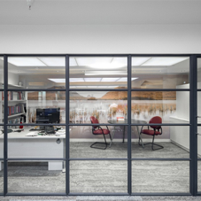 Internal steel screens for Fleet Street offices