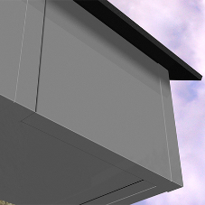 Install fascias and soffits live PVC with Alutec