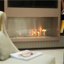 EcoSmart fireplace as centrepiece in luxury apartment