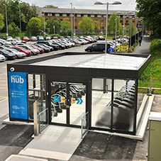 Broxap cycle hubs for Metrolink stations