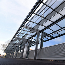 Shelters and street furniture for London Academy