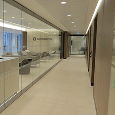 Moveable walls for Goodwin law offices