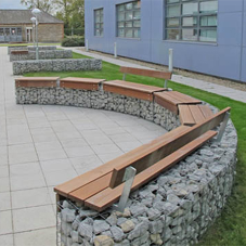 Outdoor seating for Begbroke Science Park