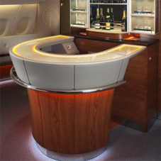 Blacklit stone for Emirates aircraft