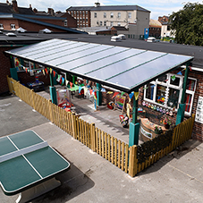 Broxap outdoor classroom for St Patrick's