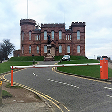 Traffic control at Inverness Castle