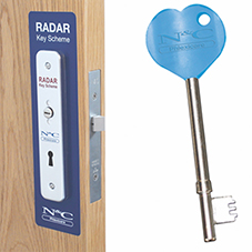 Radar Lock and Key scheme for easy access