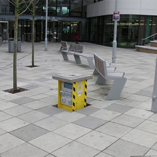 Retractable service units for Exeter University