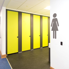 HiZone school toilet cubicles at Welsh secondary school