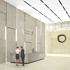 Lightweight stone cladding for Standard Life office