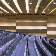 London's first stepped auditorium divided with Skyfold