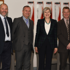 Theresa May visits IKO Polymeric in Derbyshire