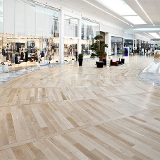 Contemporary parquet floor for shopping mall