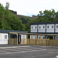Temporary school building by Elliott Group