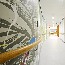 Interior protection at new cancer centre