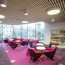 University library features dramatic ceiling